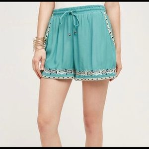 Anthropologie - Embroidered  Shorts By Hei Hei